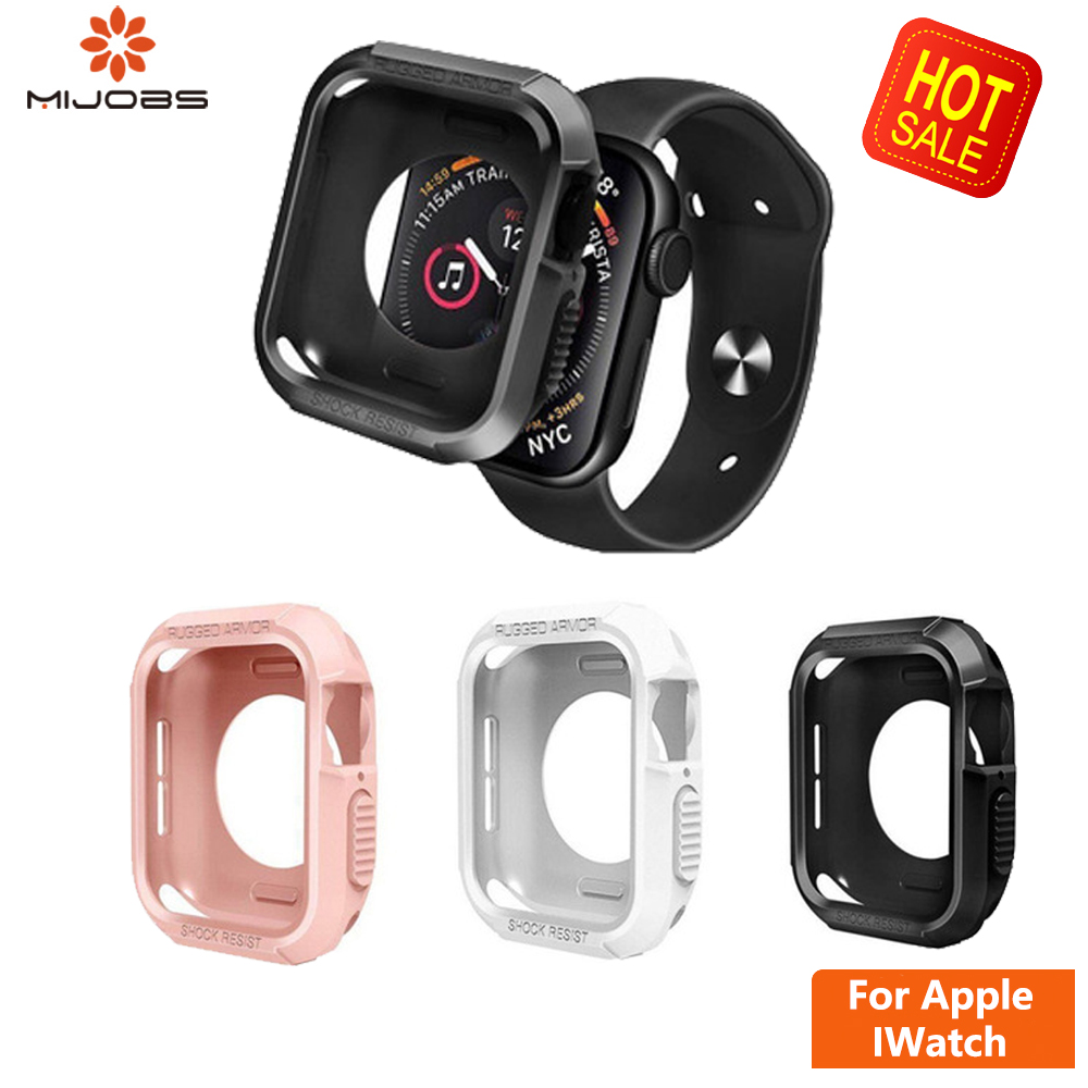 Slim TPU Watch Cover For Apple Watch 4/3/2/1 40mm 44mm Band Strap Case Soft Clear Case Screen Protector For AppleWatch 4 42 38mm