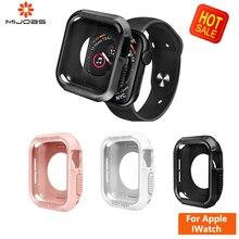 Tpu magro assista capa para apple watch 4/3/2/1 40mm 44mm banda caso cinta suave caso claro protetor de tela para applewatch 4 42 38mm