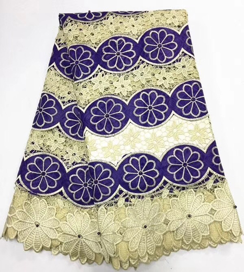 5yards/pc purple and gold African cord lace fabric bazin guipure lace fabric with beads for party dress  BZL075yards/pc purple and gold African cord lace fabric bazin guipure lace fabric with beads for party dress  BZL07