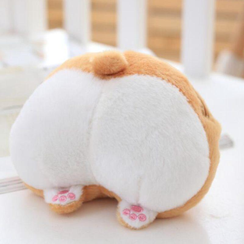 Cute Pet Dog Butt Plush Coin Bag Corgi Butt Shape Coin Purse Animal Plush Bag Creative Corgi Girls Bag Mini Purse Coin Purses & Holders
