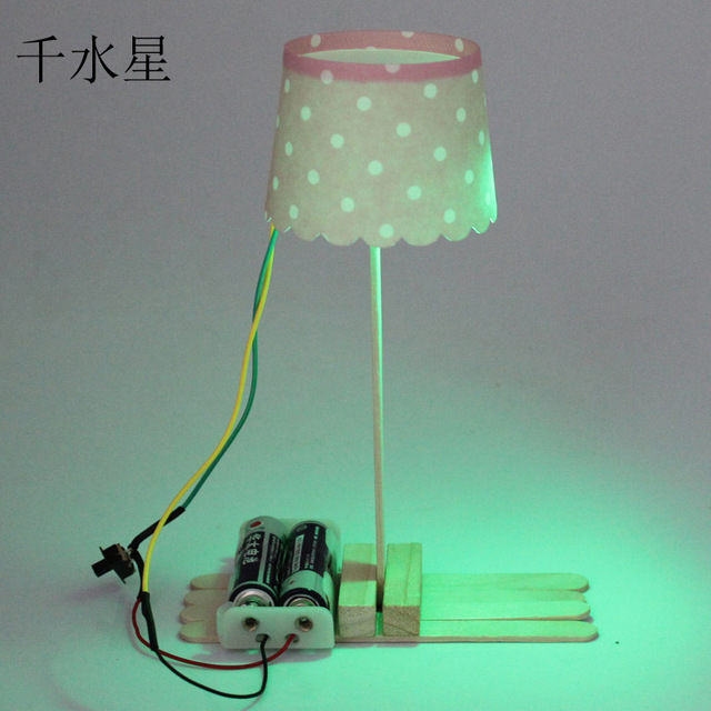 Cover Lamp DIY Self Made Technology Production Science Model Manual  Material Package Gags Practical Jokes