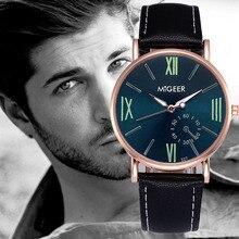 2017 Luxury Quartz Watches Men's Fashion Geneva Quartz Clock Leather Strap Wristwatches relogio masculino Dropshipping 5Down