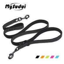 MySudui Truelove 7 In 1 Multi-Function Nylon Dog Leash For Dog Double Running Training Hands Free Pet Dog Leash Honden Halsband