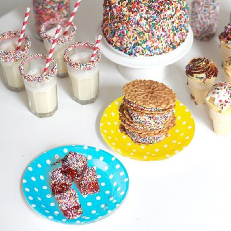10Pcs Paper Cups Cake Plates Disposable Tableware Wedding Party Table Decorations Polka Dot Drinking Water Disposable Paper Cup-in Disposable Party ...  sc 1 st  AliExpress.com & 10Pcs Paper Cups Cake Plates Disposable Tableware Wedding Party ...