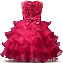 Girl Dress 2018 Sleeveless Kid Dresses Girls Clothes Party Princess Vestidos Nina 5 6 7 8 year birthday Dress Christmas baptism