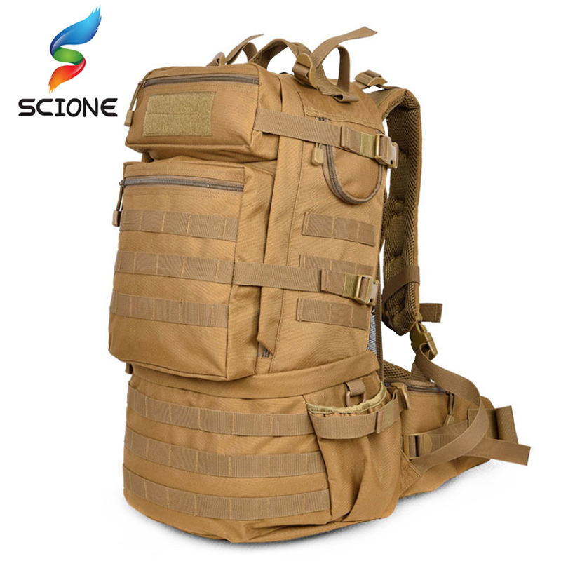Hot Outdoor Backpack 50l Camping Hiking Backpack Tactical Bag Man Tactical Military Bag Camouflage Backpack Man