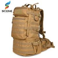 뜨거운 야외 배낭 50l 캠핑 하이킹 배낭 전술 가방 남자 전술 군사 가방 위장 배낭 남자 트레킹