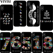 Central Perk Coffee friends tv Park Etui For iPhone xr case 7 X XS MAX 8 6 6S Plus 5 5s SE Coque Black silicone Cover