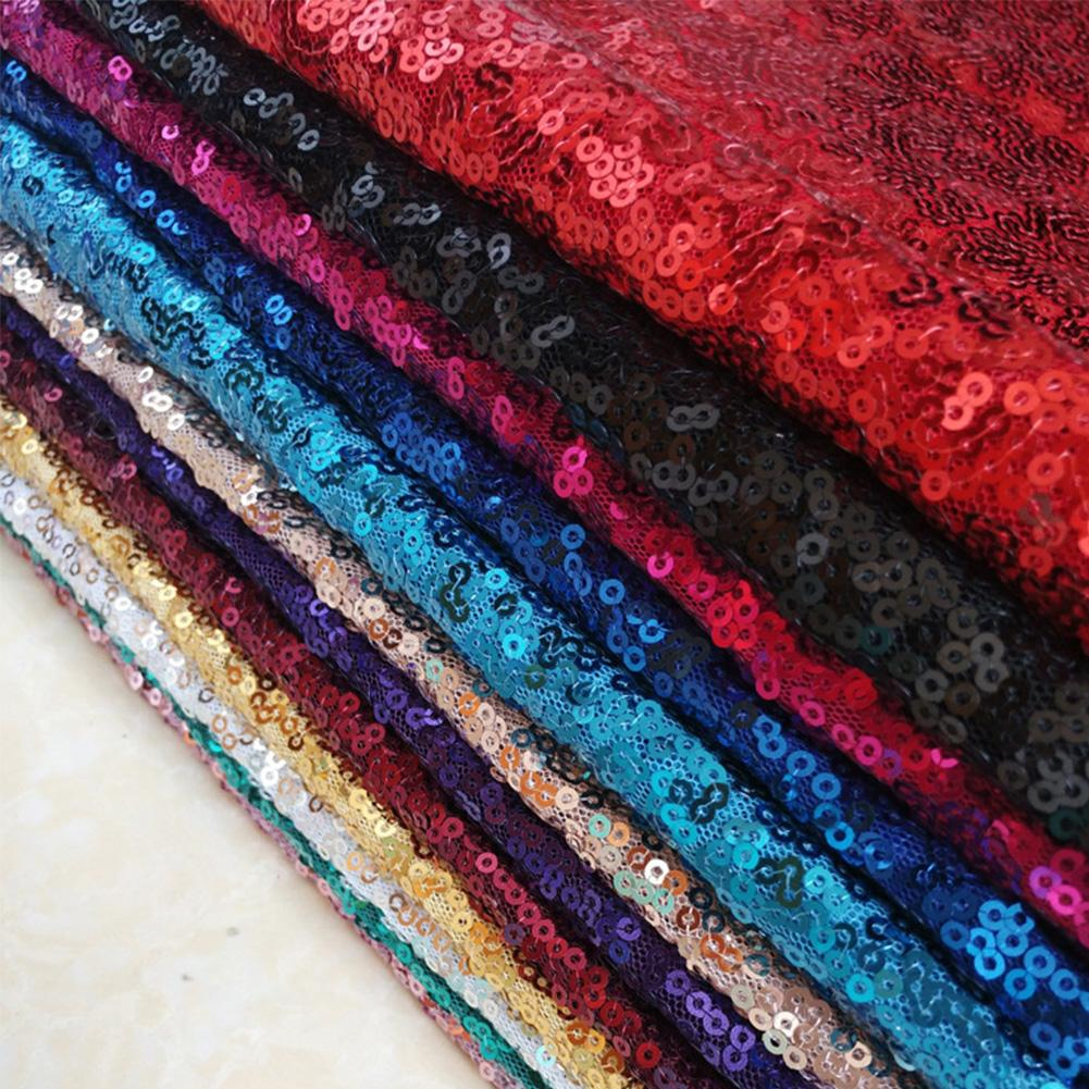 Glitter Sequins Fabric Handmade Patchwork Materials DIY Bag Shoes Accessories