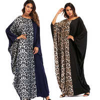 Fashion Muslim Style Long Dress Abaya Ramadan Clothing Robes Bat Sleeve 2018 New Women Dress For Muslim Girl Black Turkish Dubai