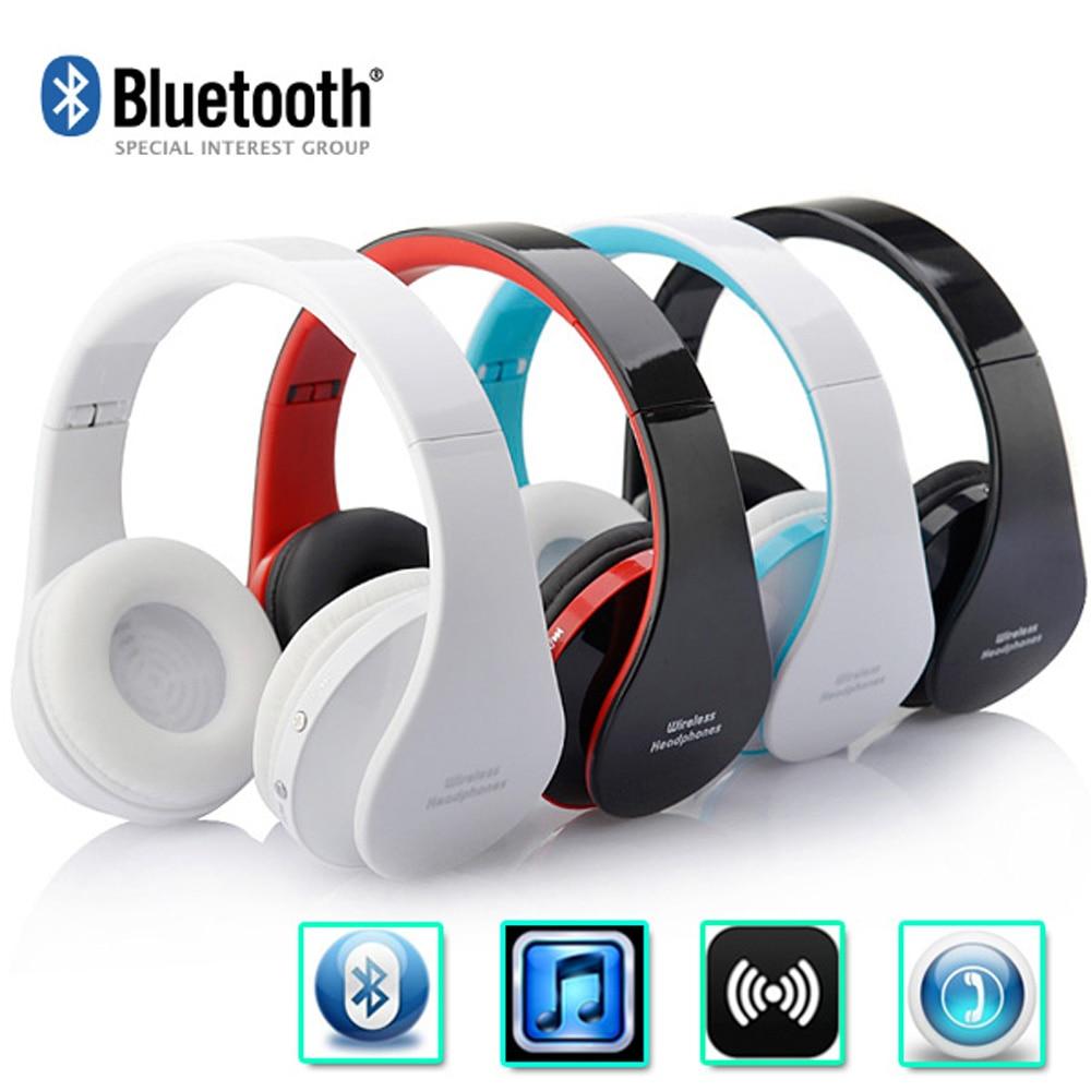 Headfone Casque de Audio auriculares Bluetooth gran auricular inalámbrico para PC ordenador la cabeza del iPhone del teléfono con micrófono Aptx