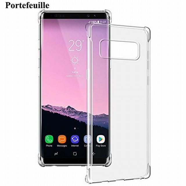 12169286e20 Case Para Samsung Galaxy Note 8 Case Transparente Delgado TPU de Silicona  Suave Cubierta Protectora Del