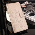Pintura da flor PU LEATHER Flip Fique Wallet Capa Para Doogee Homtom HT3 Tampa Caixa Do Telefone Móvel com Suporte de Cartão Para Homtom HT3