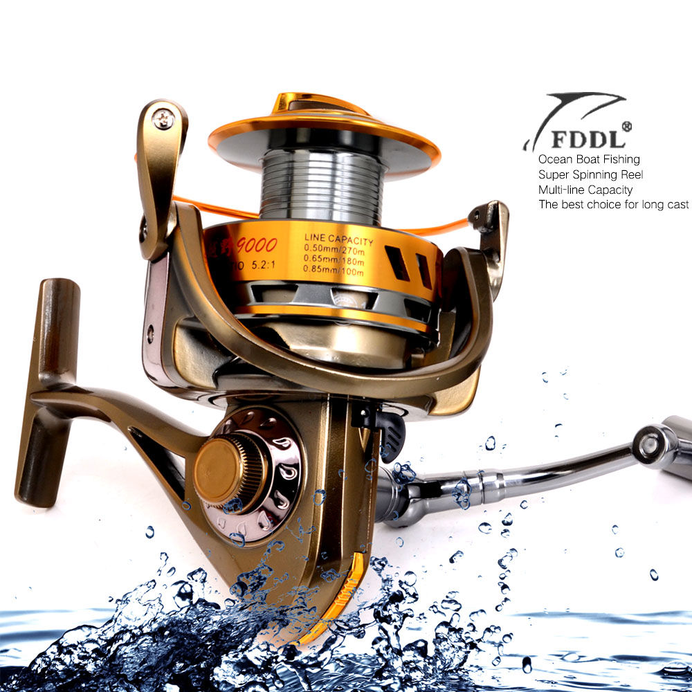 Superior Full Metal 12+1BB 8000/9000 Series Spinning Fisihng Reels Big Long Shot Casting Fly Sea Wire Cup Wheels Aluminum Spool simple style sleeveless plunging neck see through solid color dress for women