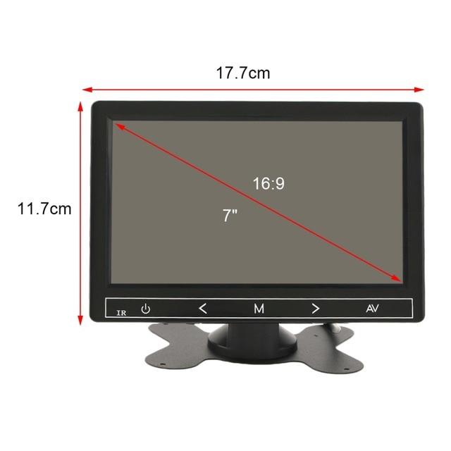 7 Pulgadas Universal Clear Imagen Monitor Del Coche DVD Del Coche Inversa Monitor LCD de Aparcamiento Vista Frontal Folable Funcionamiento Estable