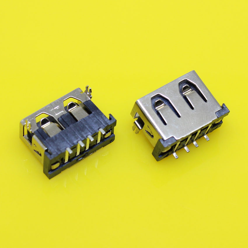 US-032 USB Type-A Female PCB Mount Socket Connector High Quality Vertical Usb A Female Socket Jack Connector 90 degree