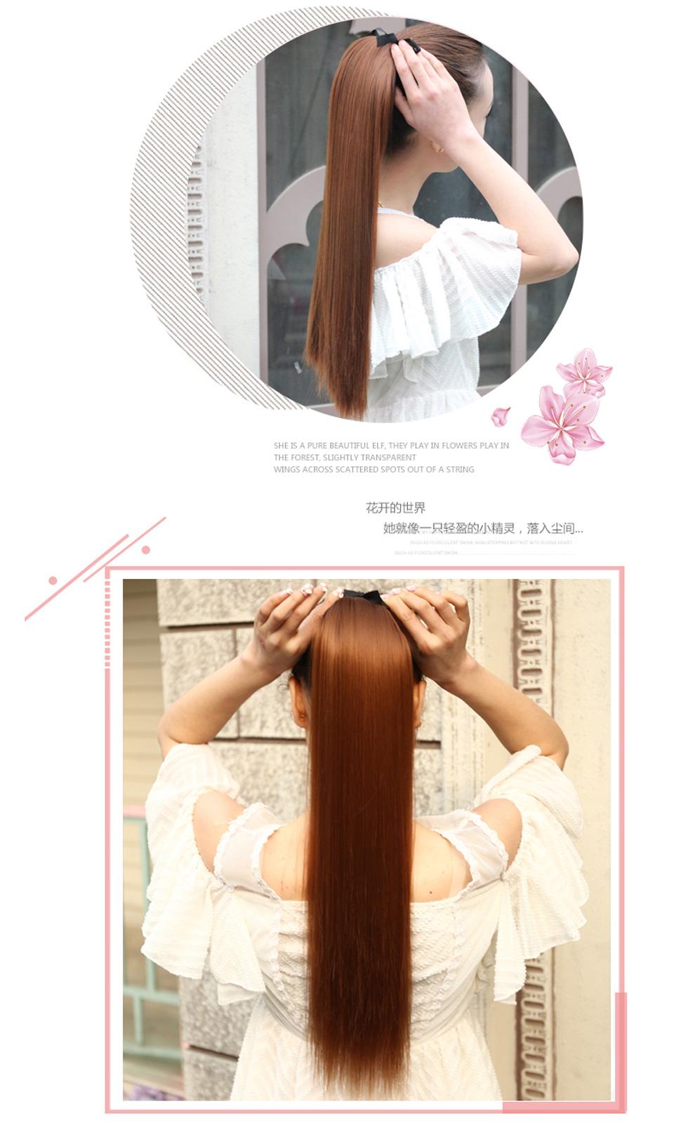 Pony Clip Ponytail Hair 7