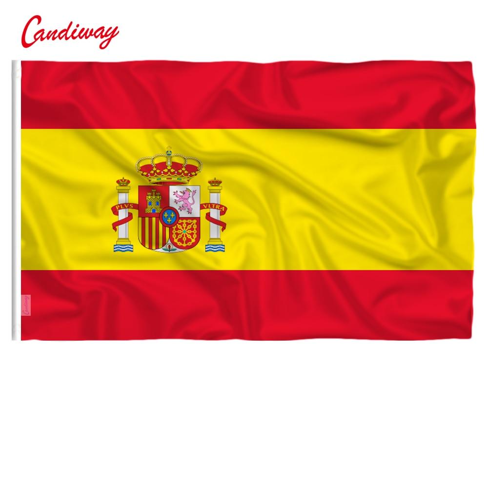90 X 60cm  Spanish International National Flag The Spanish Flag Polyester Polyester Printed Big Flag NN017