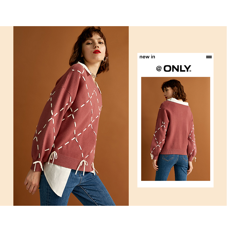 Sexy And Refined Womens Winter Youth New Elegant Loose Rope Lace Knit Sweater Trendy Diamond Lattice Tie-up Classic Design Show 23