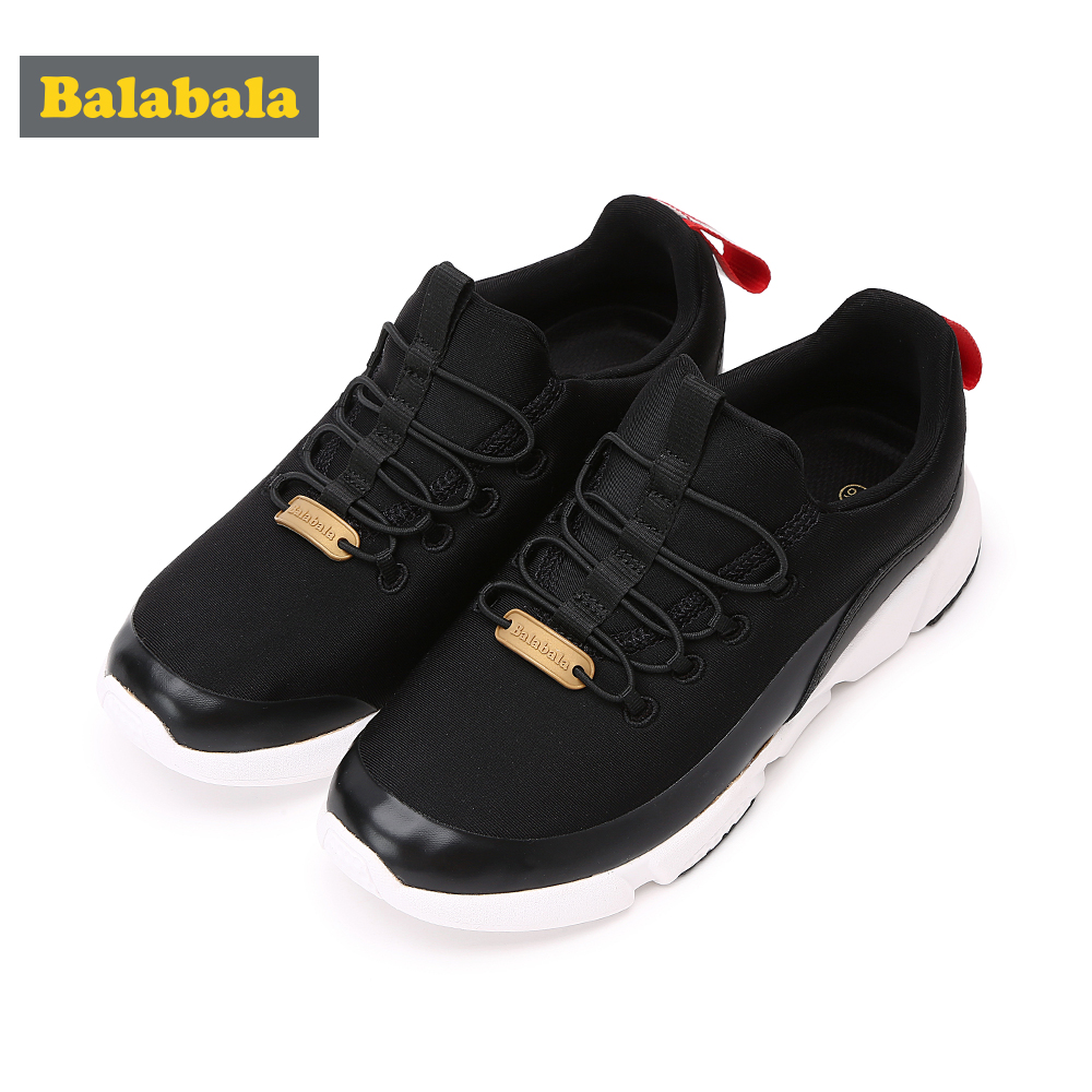 Balabala Boys Girls Slip-on Lace-up Sneakers Children Kids Toddler Breathable Casual Running Shoes With Anti-slip Design Autumn