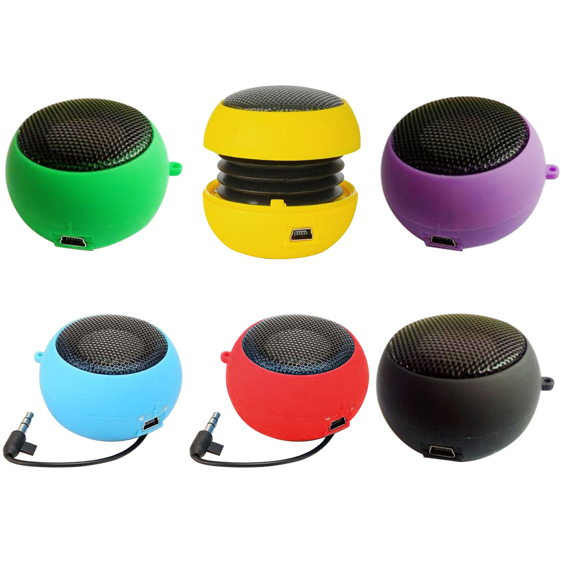 Fashion Cute Mini Speaker Mp3 Music Loudspeaker Player Outdoor 3.5mm Portable Wired Speaker Sound Box for Computer Phones