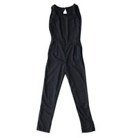 Women Casual Black Back Zipper Sleeveless Jumpsuits High Street Cut Out Back Jumpsuit Ankle-length Jumpsuits