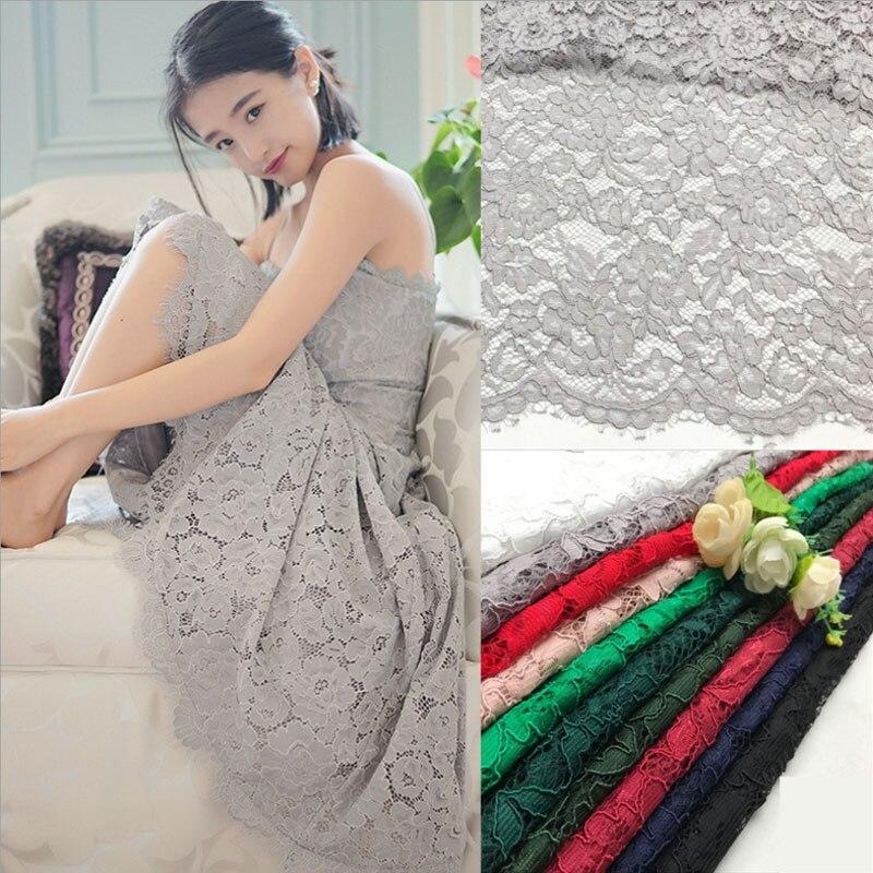 1 yard 1.45 m largeur haut de gamme vêtements soluble dans l'eau africain cordon dentelle tissu pour robe de mariée localiser fleurs guipure dentelle tissu