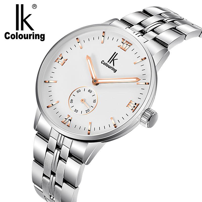 2017 IK Watch Orignial Box Men Roman Simple Watches Auto Mechanical Wristwatch Free Ship