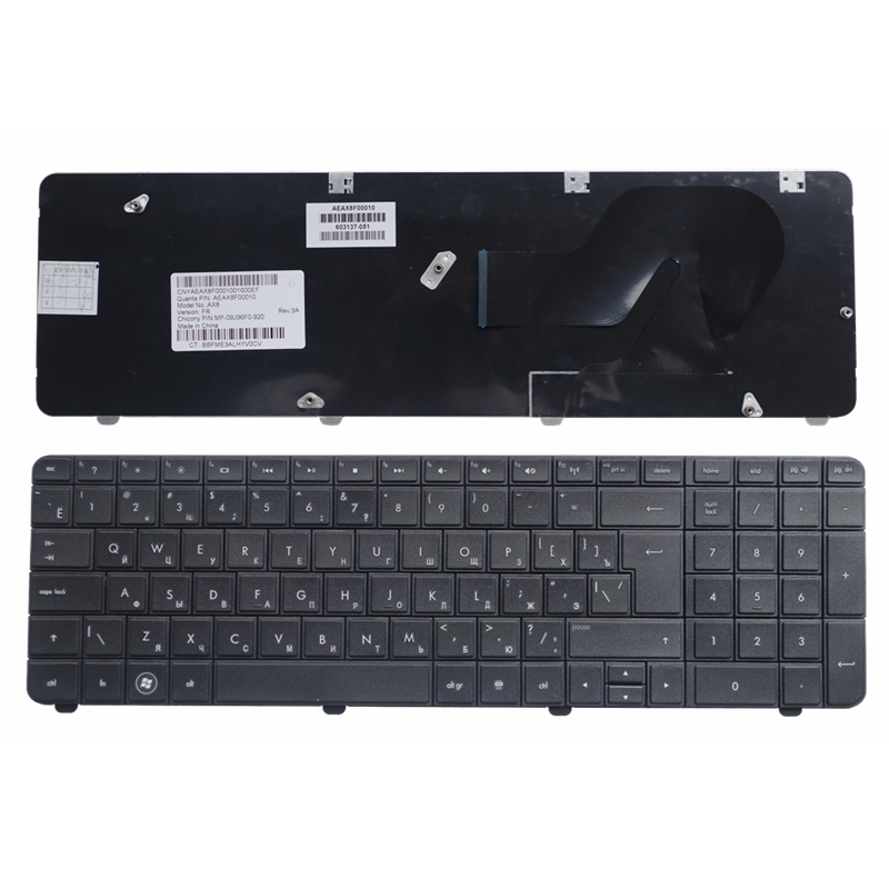 Black RU New FOR HP CQ72 G72 Laptop Keyboard Russian