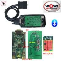 Green Board 3.0PCB Nec WOW CDP V5.008 R2+5.00.12 Keygen VD TCS CDP With Bluetooth OBD OBDII Scanner Cars Trucks Diagnostic tool