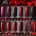 Híbrido de Diamantes de color rojo Esmalte de Uñas de Gel de Alta Calidad de Larga duración Empapa del LED Herramientas de Manicura Belleza Del Clavo de DIY Arte 12 colores 12 ml