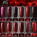 Red Diamond Hybrid Gel Nail Polish High Quality Long-lasting Soak Off  LED Manicure Beauty DIY Nail Art Tools 12colors 12ml
