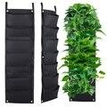 7 tasche Hängen Vertikale Garten Wand Pflanzer für Hof Garten Dekoration Pflanzen Wachsen Tasche für Indoor Outdoor Pflanzen (4 Pcs)-in Pflanzbeutel aus Heim und Garten bei