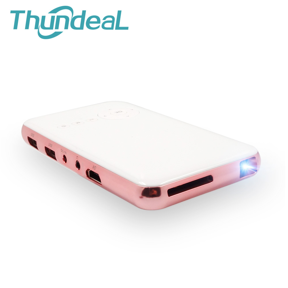 ThundeaL DLP200 Mini DLP Projector Built-in Battery Android WIFI Bluetooth Proyector with Handheld Phone Miracast IOS Airplay mx3 battery 3 battery m351 m355 phone b030 original built in battery