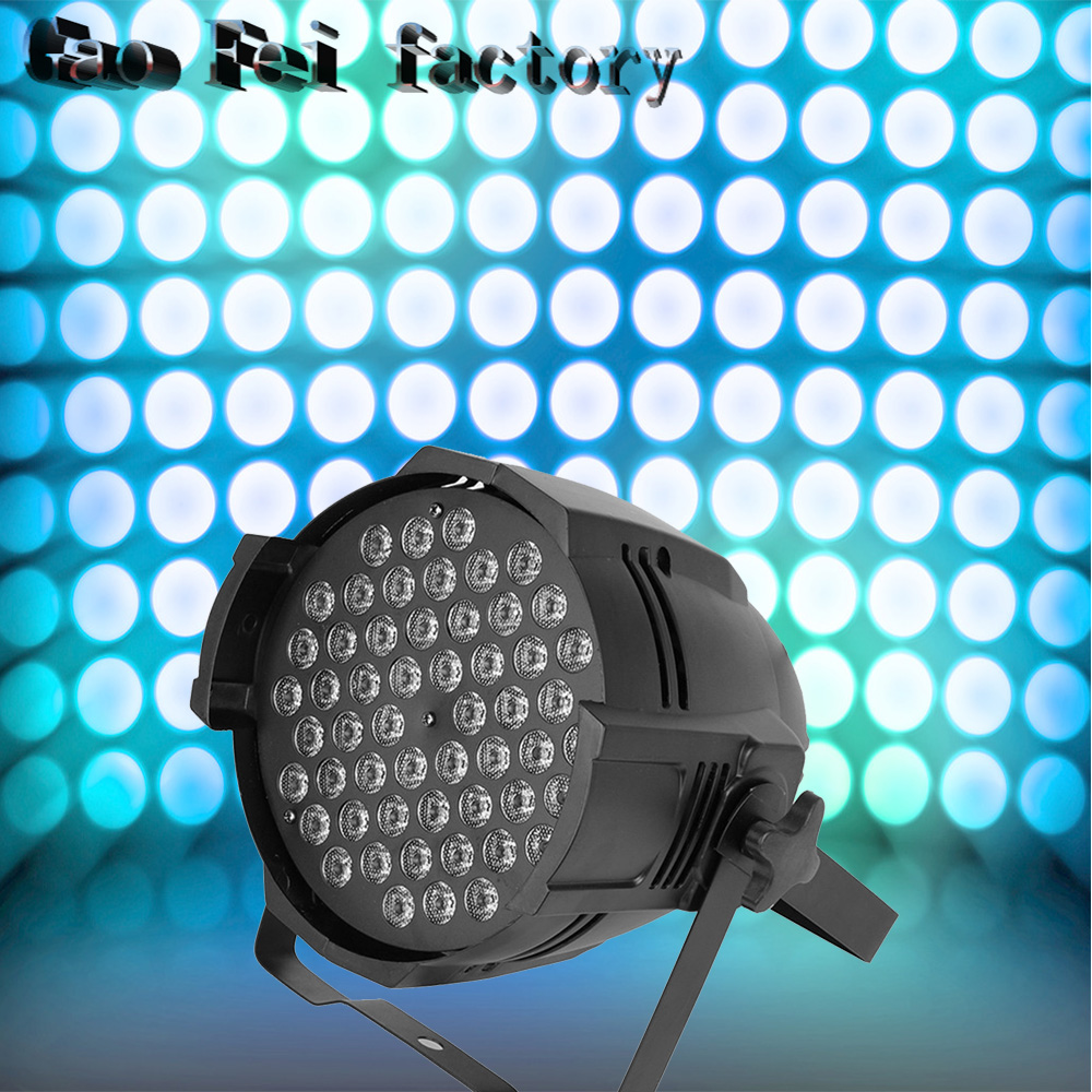 Hot sell 54 * 3W Par led dyed plastic 3w flat LED Par RGB Wash wedding decorative studio theatrical DJ Stage lightingHot sell 54 * 3W Par led dyed plastic 3w flat LED Par RGB Wash wedding decorative studio theatrical DJ Stage lighting