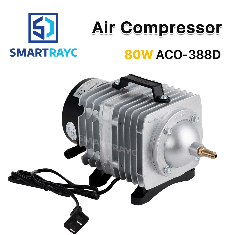 Smartrayc 80W Air Compressor Electrical Magnetic Air Pump for CO2 Laser Engraving Cutting Machine ACO-388D