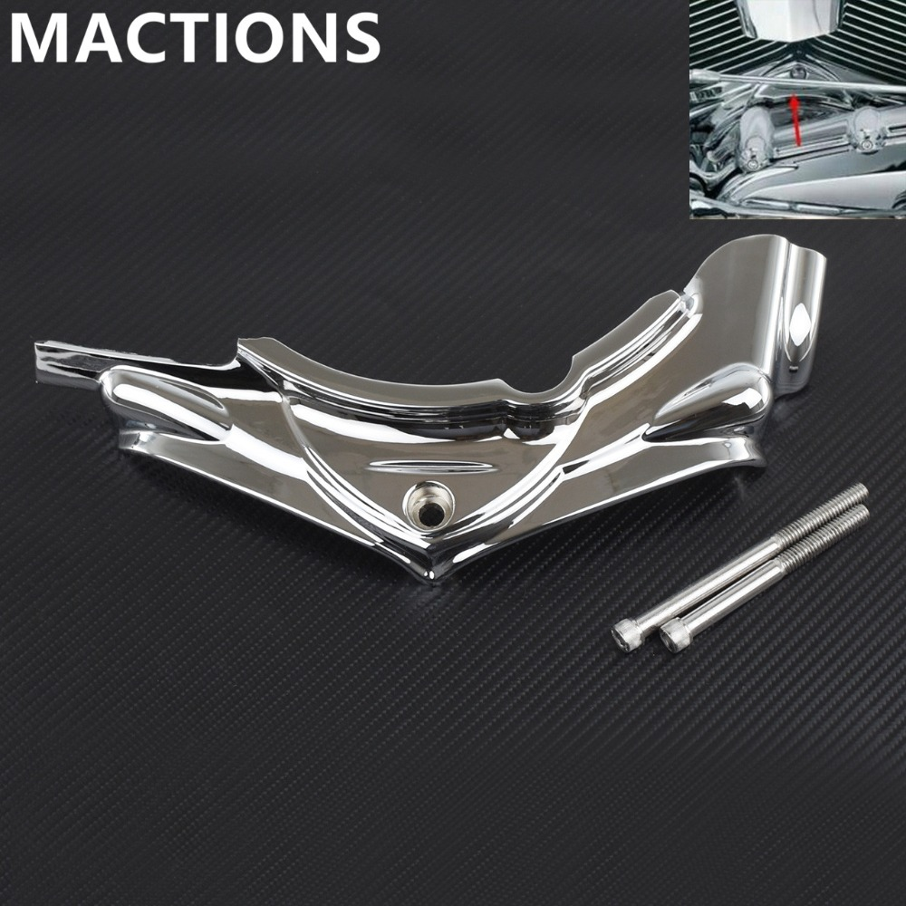 Cylinder Base Side Cover Motorcycle Parts Chrome For Harley Electra Road Street Glide King Dyna