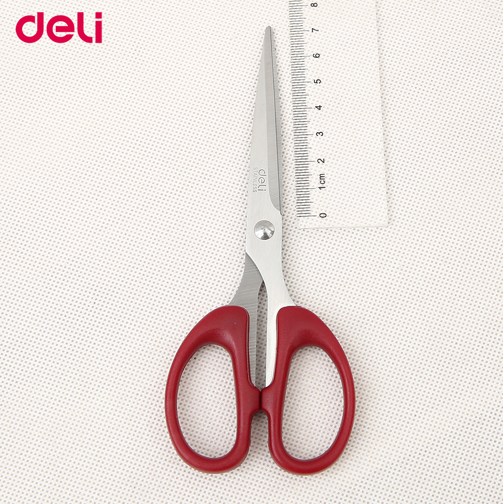 Deli 2pcs/lot fashionable office household students scissors cutter small kitchen scissors sharp and durable