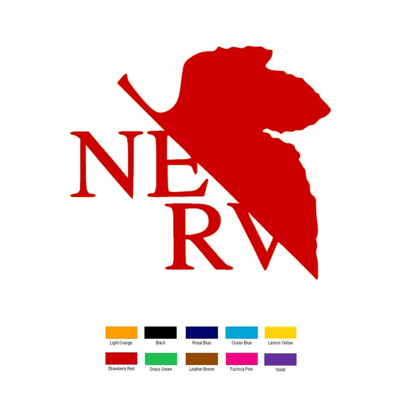 15cm x 15cm Evangelion Nerv Car Sticker For Truck Window Bumper Auto SUV Door Laptop Kayak Vinyl Decal xin-175 horse riding sticker for car rear windshield truck suv bumper auto door laptop kayak canoe art wall die cut vinyl decal 8 colors