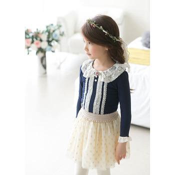 Baby Clothing Children O-Neck Royal Blue Long Sleeve T-Shirt Kid  Clothes Fashion all-match Casual Comfortable Full cotton 3