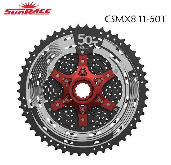 2017 SunRace Nouveau CSMX8 11 vitesse 11-50 T VTT large que le vélo vtt 11-50 T 11 vitesse matériau différent CSMX80 11-50 T