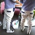 Новый 2016 лето весна дети мальчик мальчик горошек тонкие детские брюки дети белый Топы детские брюки мальчиков брюки 15185