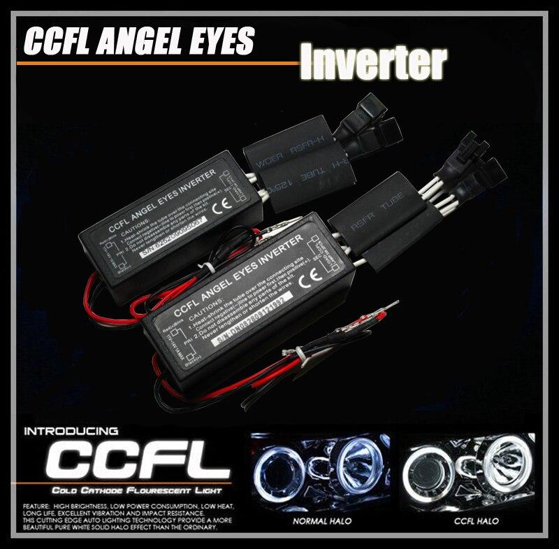 12В универсальное CCFL Ангел глаз Инвертор заменить сгоревший Инвертор Ангел глаз Инвертор, драйвер глаза Ангела 1 разъем 2