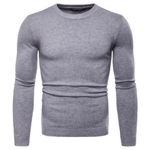 Autumn Winter Knitted Sweaters Men New Slim Fit Solid Pullover Male Round Neck Casual Knitwear Men's Bottoming Shirt