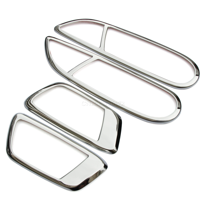 Stainless Steel Inner Door Handle Stickers Fit For Ford Ecosport New Fiesta 2009 2010 2011 2012