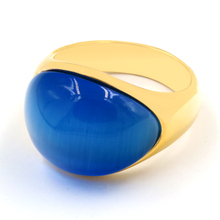 Vintage Men & Women Big Stone Wedding Rings Jewelry Stainless Steel Blue Red Stone Ring for Women Party Fashion New Jewelry engagement rings for women wedding jewelry big crystal stone ring stainless steel jewelry