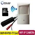 POE 960 P wifi cámara de visión Nocturna Mini Cámara IP Cámara de Seguridad CCTV de Seguridad de interior mini TF Cámara IP Wifi P2P POE Audio ONVIF
