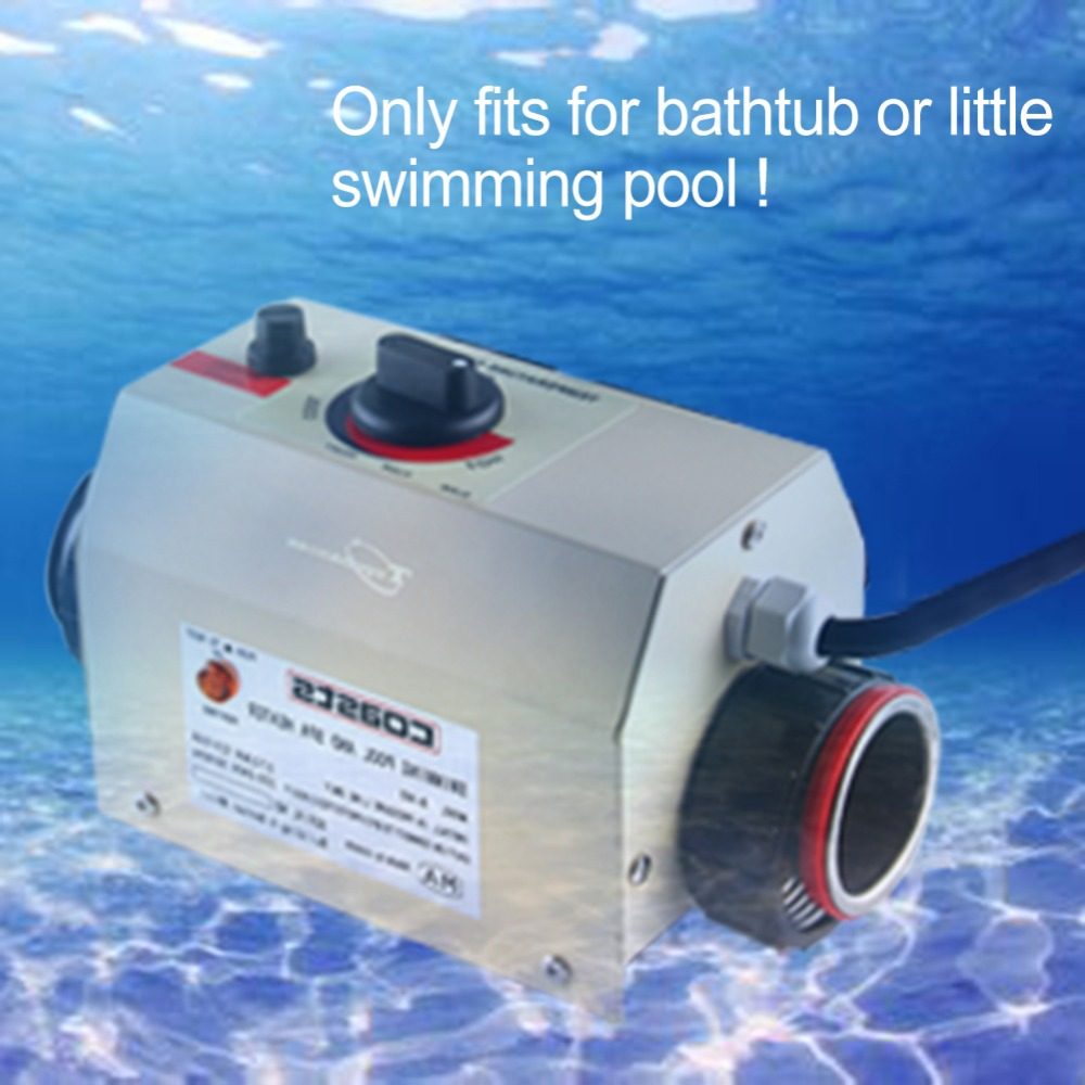 New 3KW 220V 50HZ Swimming Pool Heater & SPA Bathe Bath Hot Tub Thermostat Electric Water Heater High Quality 3kw 220v stainless steel heater element for lx h30 rs1 spa heater and hot tub theater