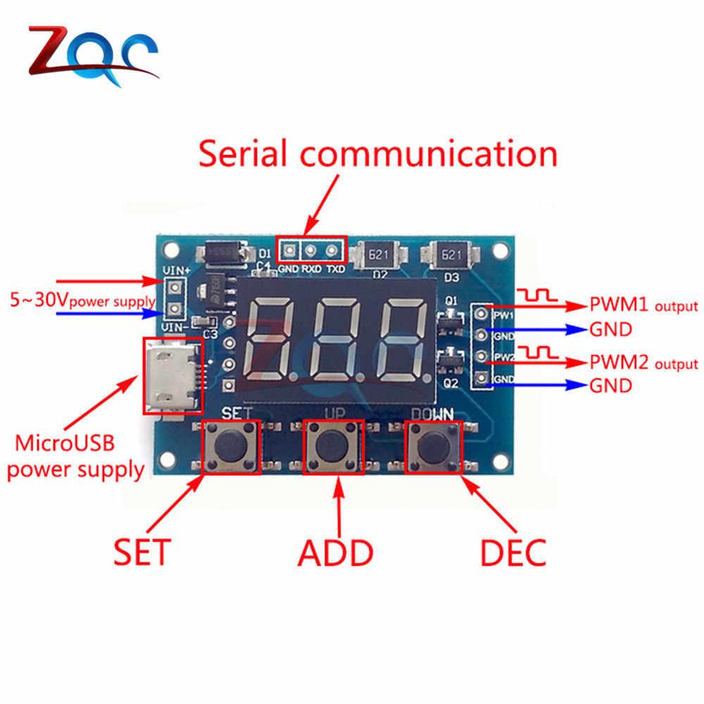 DC 5-30V Micro USB 5V Độc Lập Tín Hiệu PWM Máy Phát Điện 2 Dual Chiều Kỹ Thuật Số LED chu kỳ làm Tần Số Xung Ban