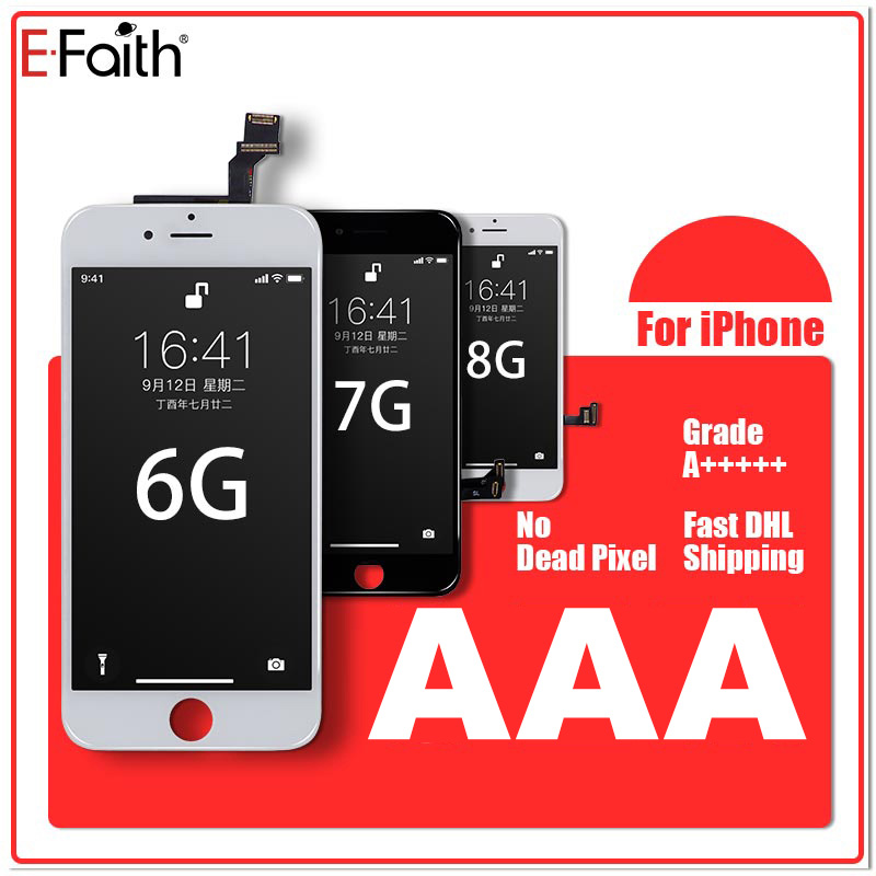 10PCS EFaith E Faith Top Quality LCD A No Dead Pixel Display For iPhone 6 7